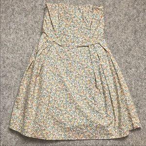 Strapless Corset Top Floral Dress